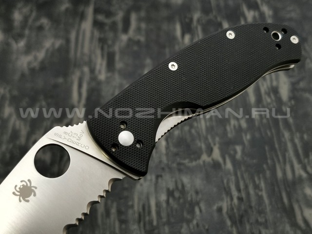 Нож Spyderco Tenacious PS C122GPS, сталь 8Cr13MoV satin, рукоять G10 black