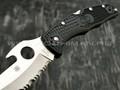 Нож Spyderco Matriarch 2 Emerson C12SBK2W, сталь VG-10 satin, рукоять FRN black