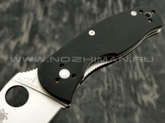 Нож Spyderco Persistence C136GP, сталь 8Cr13MoV satin, рукоять G10 black