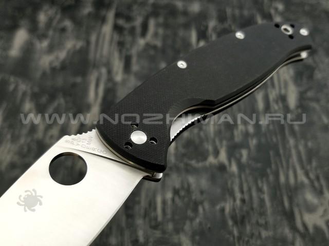 Нож Spyderco Resilience C142GP, сталь 8Cr13MoV satin, рукоять G10 black
