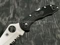 Нож Spyderco Delica 4 serrated C11SBK, сталь VG-10 satin, рукоять FRN black