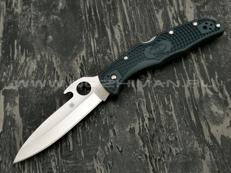 Нож Spyderco Endura 4 Emerson Plain Edge C10PGYW, сталь VG-10 satin, рукоять FRN grey