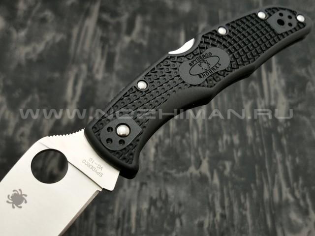 Нож Spyderco Endura 4 Wharncliffe C10FPWCBK, сталь VG-10 satin, рукоять FRN black
