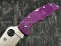 Нож Spyderco Endura 4 Flat Ground Purple C10FPPR, сталь VG-10 satin, рукоять FRN Purple