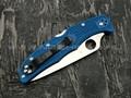 Нож Spyderco Endura 4 Flat Ground Blue C10FPBL, сталь VG-10 satin, рукоять FRN Blue