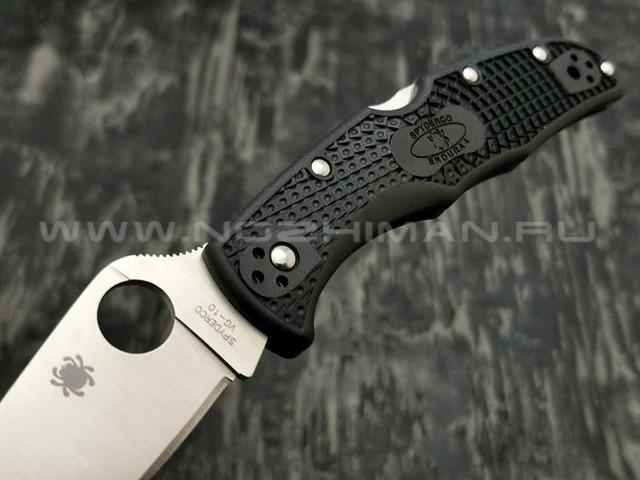 Нож Spyderco Endura 4 Flat Ground Black C10FPBK, сталь VG-10 satin, рукоять FRN Black