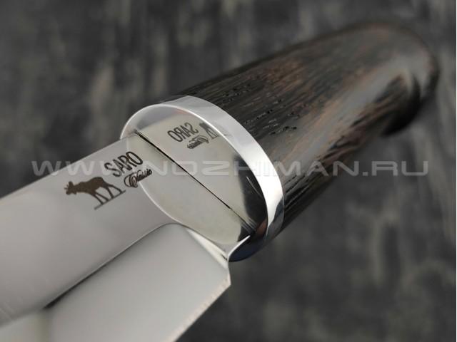 Нож SARO Финский сталь Aus-6, рукоять дерево венге