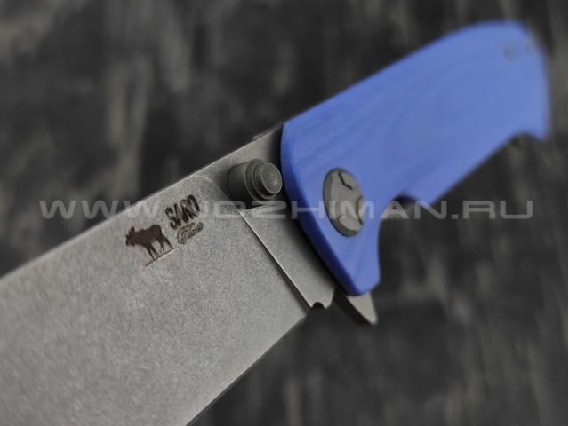 Нож SARO Чиж Next васильковый сталь K110, рукоять G10