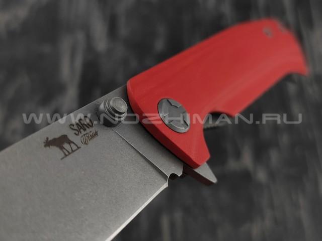 Нож SARO Чиж Next красный сталь K110, рукоять G10