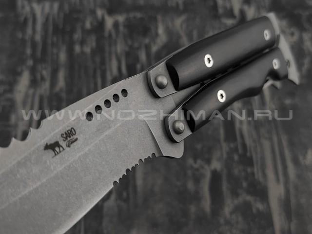 Нож SARO Оборотень сталь Aus-6, рукоять граб