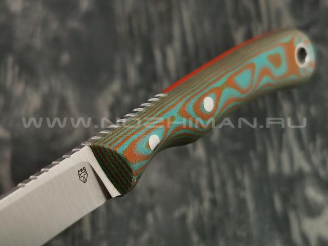 РВС нож Медный брат сталь Elmax, рукоять микарта