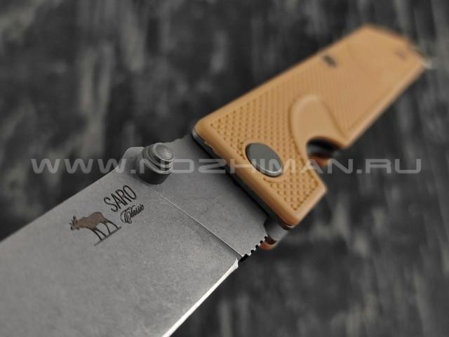 Нож SARO Грибник сталь К110, рукоять ABS