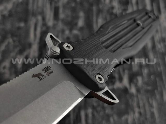 Нож SARO Варанг сталь К110, рукоять G10