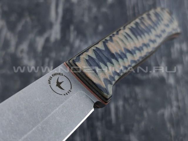 Apus Knives нож Raider Bush сталь N690, рукоять G10 camo