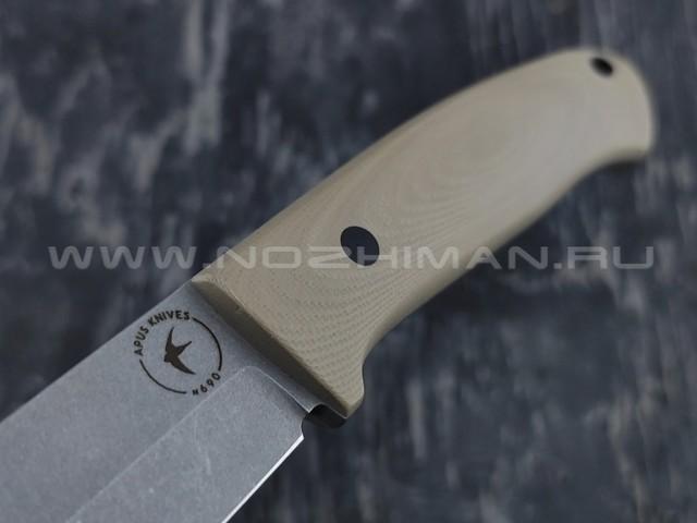 Apus Knives нож Maverick сталь N690, рукоять G10 Tan