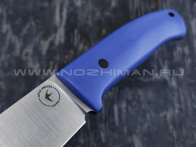 Apus Knives нож Destruktor сталь N690, рукоять G10 blue