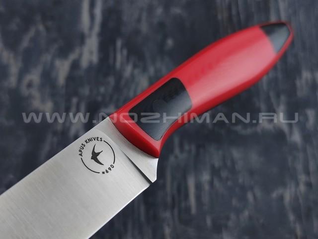Apus Knives нож Paring сталь N690, рукоять G10 red & black