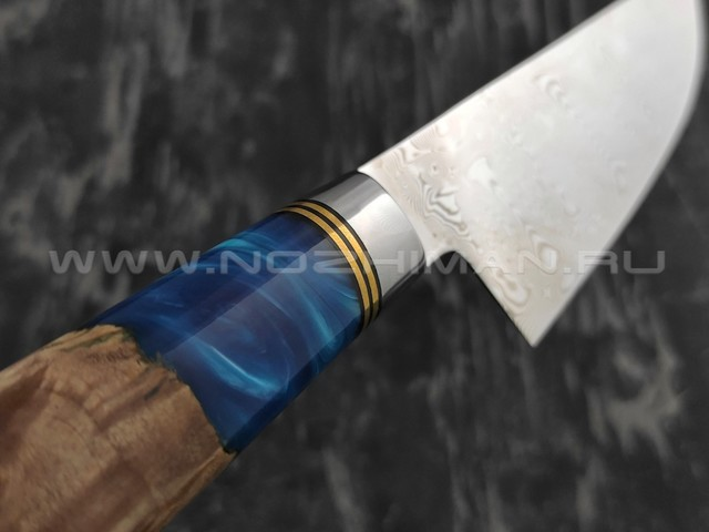 Нож TUOTOWN Шеф TWB-D7S нержавеющий дамаск, рукоять гибрид