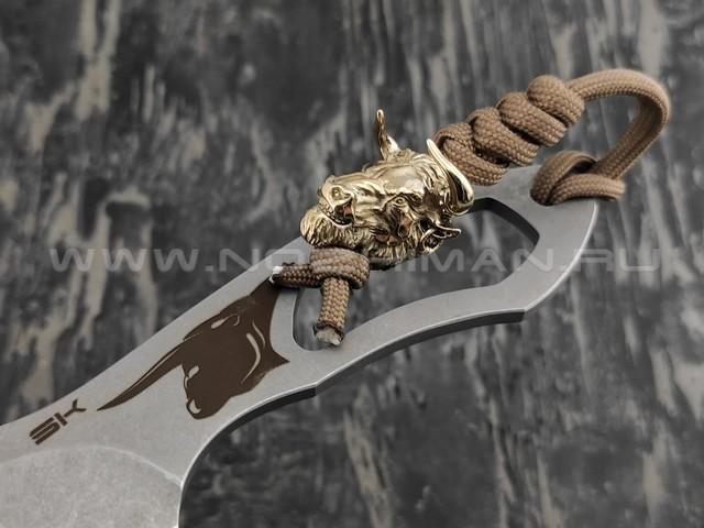 Нож SK Bull сталь Aus-8 stonewash, рукоять сталь