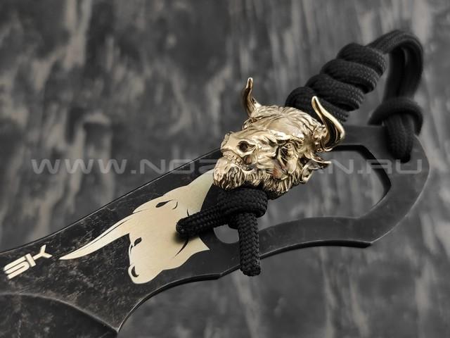 Нож SK Bull сталь Aus-8 blackwash, рукоять сталь