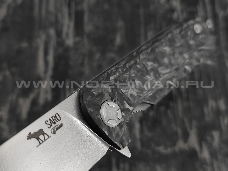 Нож SARO Чиж Next сталь Elmax, рукоять carbon