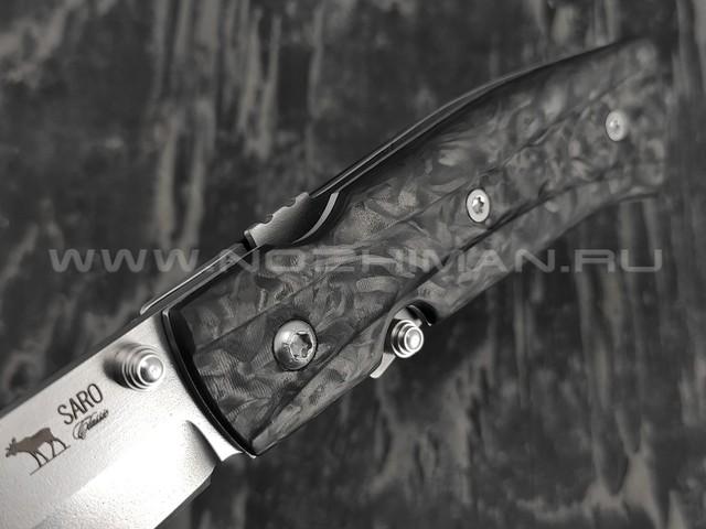 Нож SARO Wild West сталь Elmax, рукоять carbon fiber