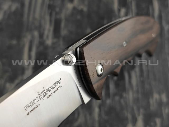 Нож Fox BR322 HUNTING RUSS KOMMER сталь N690, рукоять дерево зирикот