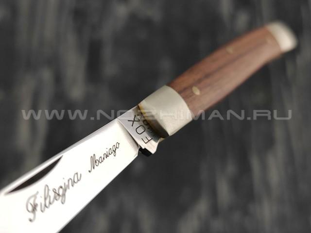 Нож Fox 627/1 сталь 420HC, рукоять дерево палисандр