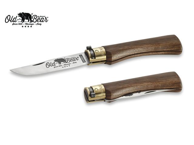 Нож Antonini Old Bear Classical Walnut XL 9306/23_LN углеродистая сталь C70 рукоять орех, латунь
