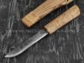 Нож Ханты-Манси №13 сталь Х12МФ, рукоять карельская береза (Стальные Бивни)