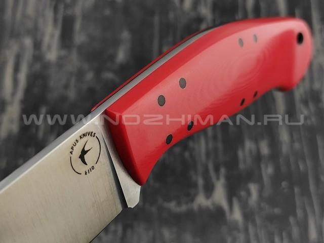 Apus Knives нож Thorn сталь K110, рукоять G10 red