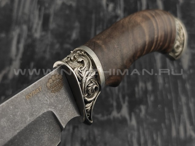 "Нож ""Бобёр"" сталь булат, рукоять корень ореха  (Тов. Завьялова)"