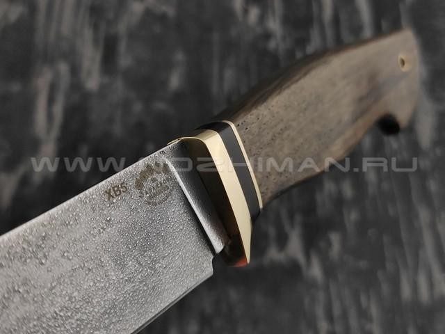 """Нож """"Скинер-Б"""" сталь ХВ5, рукоять мореный дуб (Тов. Завьялова)"""