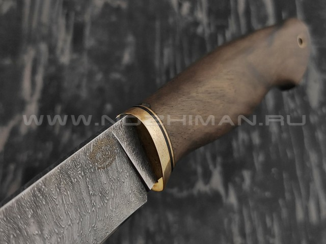 """Нож """"Ладья"""" дамасская сталь, рукоять орех (Тов. Завьялова)"""