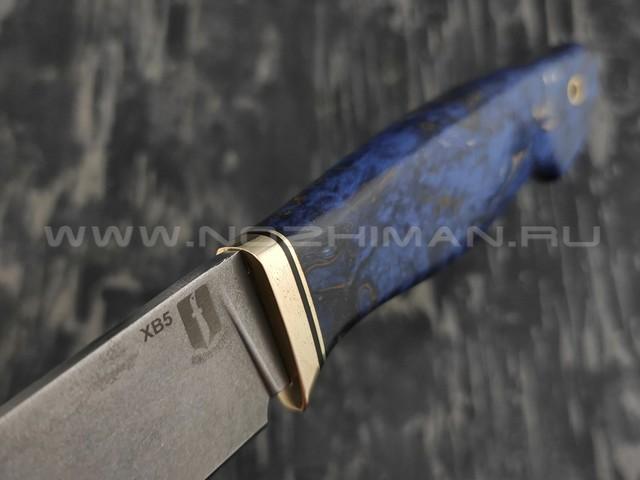 """Нож """"Ладья"""" сталь ХВ5, рукоять карельская береза (Наследие)"""