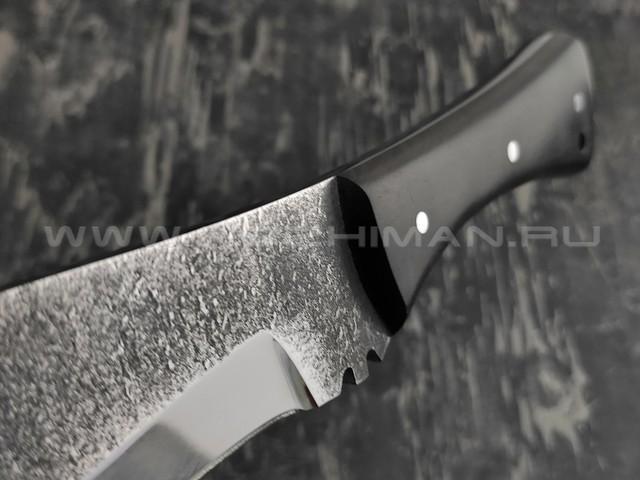Кукри кованый, сталь 95Х18, рукоять черный граб (Наследие)