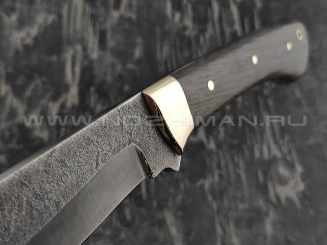 Мачете тропик-4 кованый, сталь 65Г, рукоять мореный дуб (Тов. Завьялова)