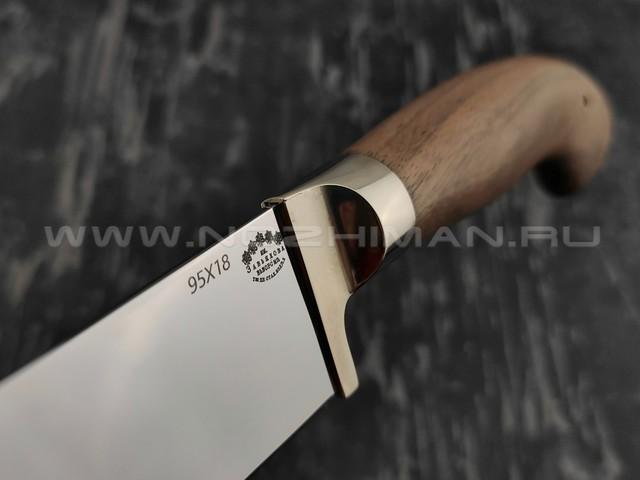 Нож Пчак большой сталь 95Х18, рукоять орех (Тов. Завьялова)