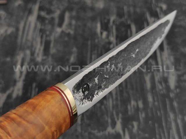 """Нож """"Якут-Б"""" сталь Х12МФ, рукоять карельская береза (Тов. Завьялова)"""
