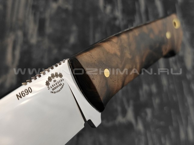 """Нож """"Бригадир"""" сталь N690, рукоять корень ореха (Тов. Завьялова)"""