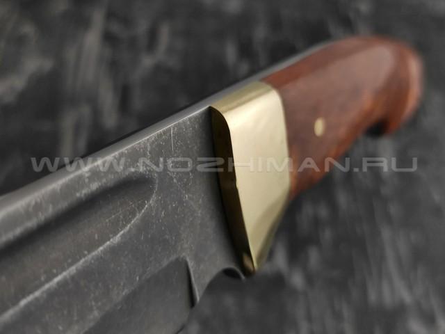 """Нож """"Пустынный орел-2"""" булатная сталь, рукоять карельская береза (Тов. Завьялова)"""