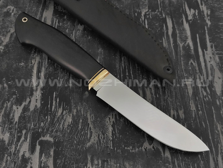"""Нож """"Скинер-Б"""" сталь N690, рукоять черный граб (Наследие)"""