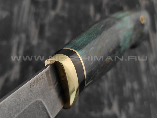 """Нож """"Атаман"""" булатная сталь, рукоять карельская береза (Наследие)"""