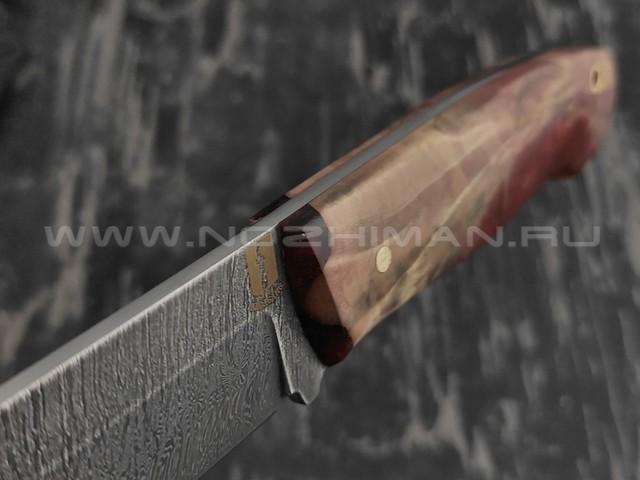 """Нож """"Цезарь"""" дамасская сталь, рукоять березовый сувель (Наследие)"""