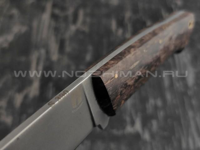 """Нож """"Бригадир"""" сталь S390, рукоять карельская береза (Наследие)"""
