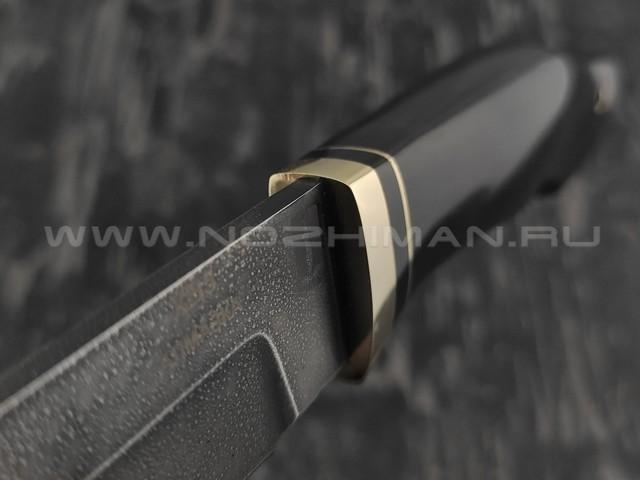 """Нож """"Ворсма"""" сталь ХВ5, рукоять черный граб (Наследие)"""