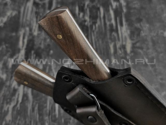 Набор для мяса, нож и вилка сталь N690, рукоять орех (Наследие)