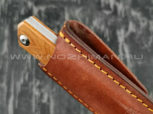 Чехол для складного ножа N.C.Custom, коричневая кожа