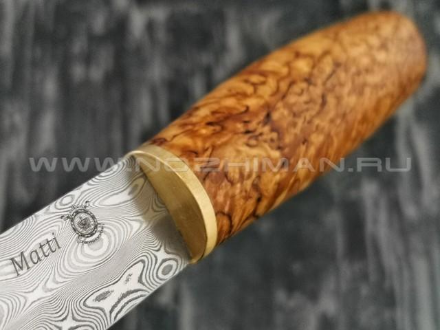 Северная Корона нож Matti сталь Zladinox ZDI-1016 рукоять карельская береза
