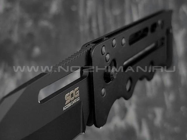 Нож SOG Access Card 2.0 Black Tini SOGAC77 сталь VG-10, рукоять сталь 420J2
